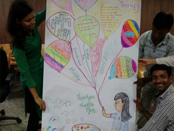 Art Based Therapy Workshop for staff was organized