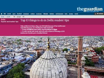 Salaam City Walk listed in the Top 10 things to do in Delhi by The Guardian