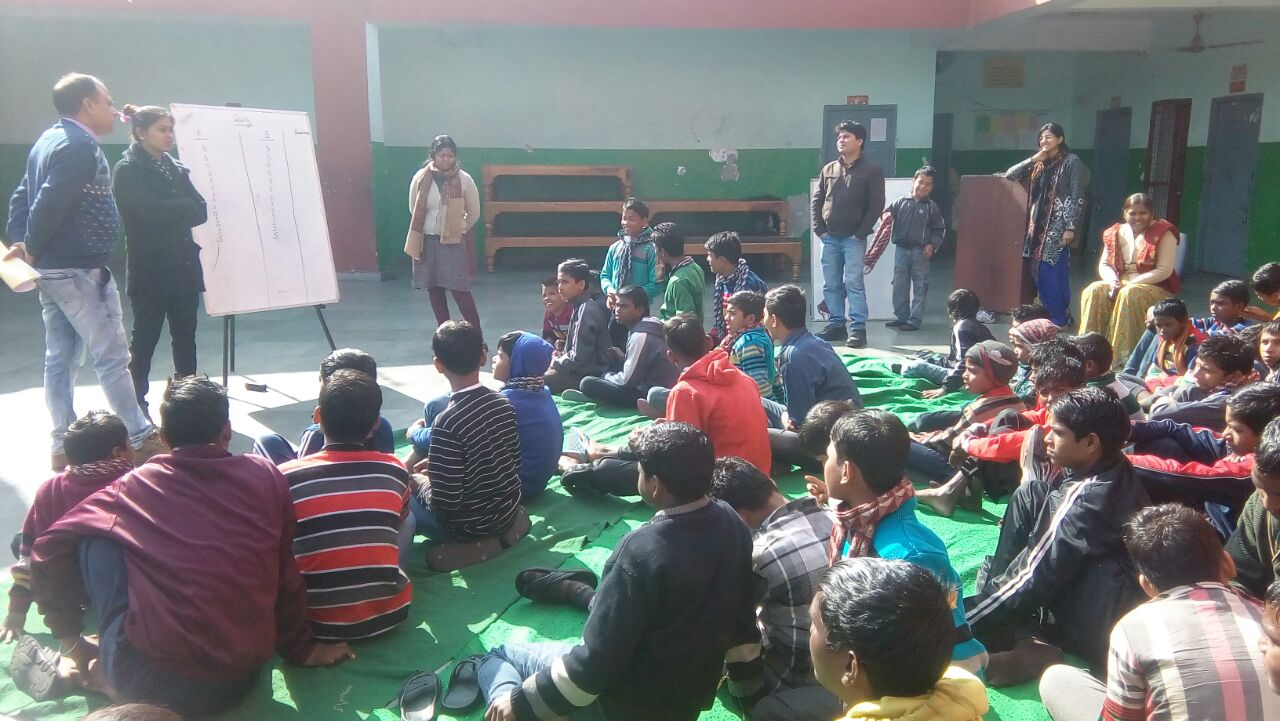 Storytelling and Quiz  Competition at the shelter homes